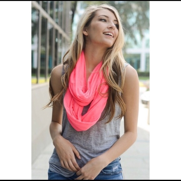 Trendy Hot Pink Infinity Scarf